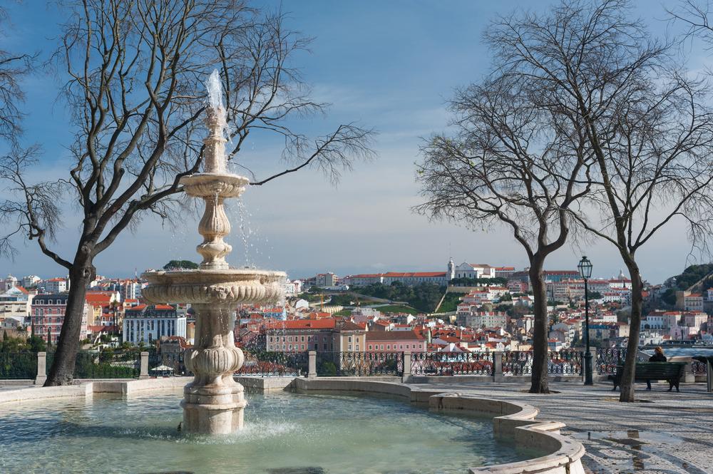 Portugal Miradouro fontein