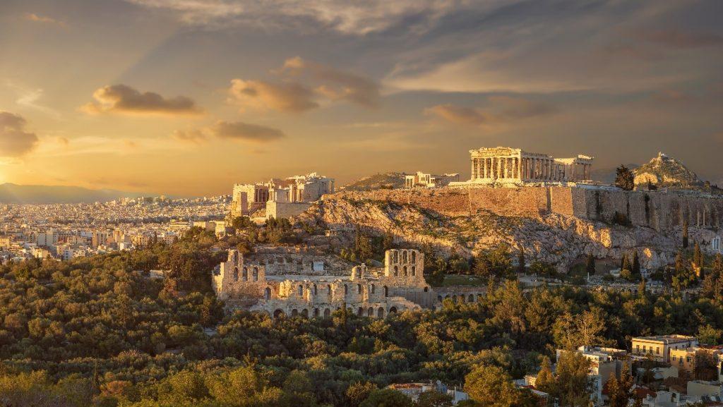 Zonnige steden herfst - Athene