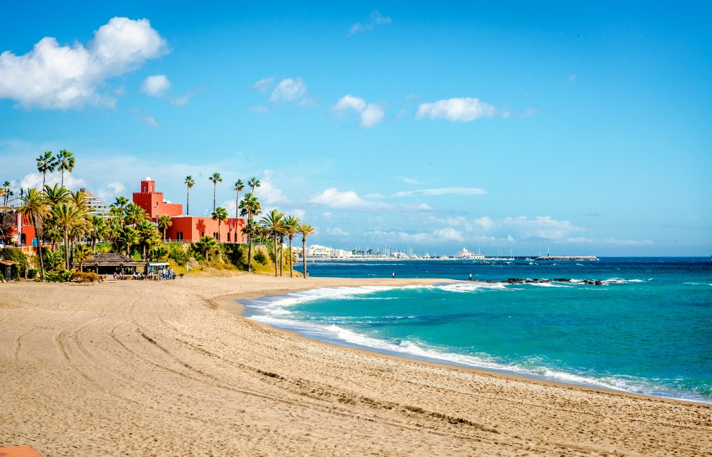 Strand nabij Malaga