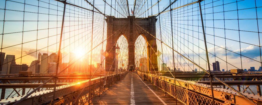 Beeld Brooklyn Birdge Manhattan