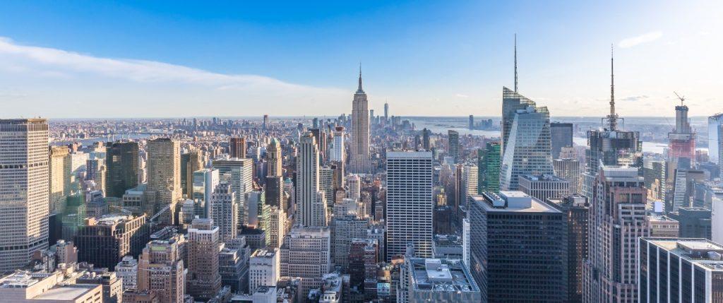 Uitzicht op Manhattan vanaf Rockefeller centre